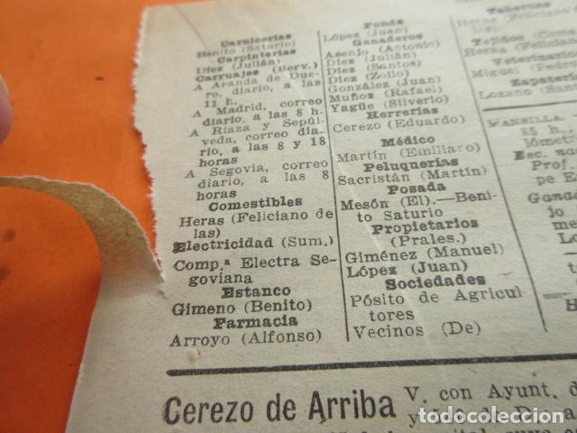 Coleccionismo Papel Varios: SEGOVIA 1947 - CEREZO ARRIBA CONDADO CASTILNOVO DURATON DURUELO ENCINAS FRENOS FUENTE GAL- LEER INT. - Foto 5 - 101450183