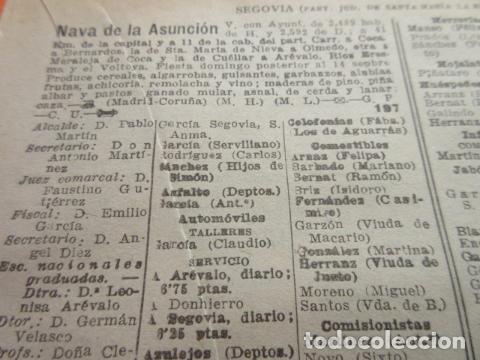 SEGOVIA 1947 - NAVAS DE ASUNCION NIEVA OCHANDO ORTIGOSA DE PESTAÑO PINILLA AMBROZ LEER INT (Coleccionismo en Papel - Varios)