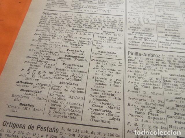 Coleccionismo Papel Varios: SEGOVIA 1947 - NAVAS DE ASUNCION NIEVA OCHANDO ORTIGOSA DE PESTAÑO PINILLA AMBROZ LEER INT - Foto 2 - 101452543