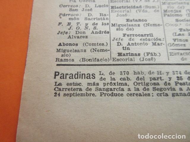 Coleccionismo Papel Varios: SEGOVIA 1947 - NAVAS DE ASUNCION NIEVA OCHANDO ORTIGOSA DE PESTAÑO PINILLA AMBROZ LEER INT - Foto 4 - 101452543