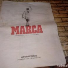 Coleccionismo Papel Varios: DIARIO MARCA DE 8 JULIO DE 2014. MUERTE DE ALFREDO DI STEFANO. SUPLEMENTO ESPECIAL DE 40 PAGS. Lote 279526443