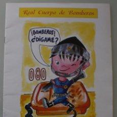 Coleccionismo Papel Varios: PUBLICACION AYUNTAMIENTO MALAGA REAL CUERPO BOMBEROS: CONSEJOS DE AUTOPROTECCION PARA ESCOLARES . Lote 101935667