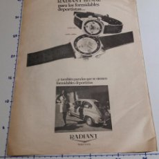 Collectionnisme Papier divers: PUBLICIDAD ANTIGUA RADIANT + SEAT 600 AÑO 1971.. Lote 101946383