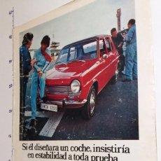 Coleccionismo Papel Varios: PUBLICIDAD ANTIGUA SIMCA 1200 - CHRYSLER ESPAÑA AÑO 1971.. Lote 101946855