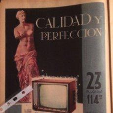 Coleccionismo Papel Varios: PUBLICIDAD TELEVISIÓN MARCONI DE 1961. Lote 102019474