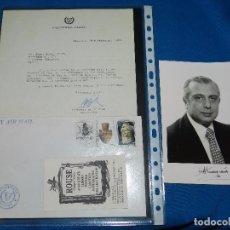 Coleccionismo Papel Varios: (M) AUTOGRAFO ORIGINAL DEL POLITICO DE NICOSIA MR SPYROS KYPRIANOU + CARTA DEL SECRETARIO. Lote 102722967