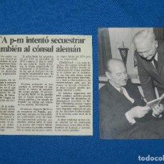 Coleccionismo Papel Varios: (M) FOTOGRAFIA AUTOGRAFIADA ORIGINAL DEL CONSUL EUGEN BEIHL , SECUESTRADO POR ETA EN 1970. Lote 102725623