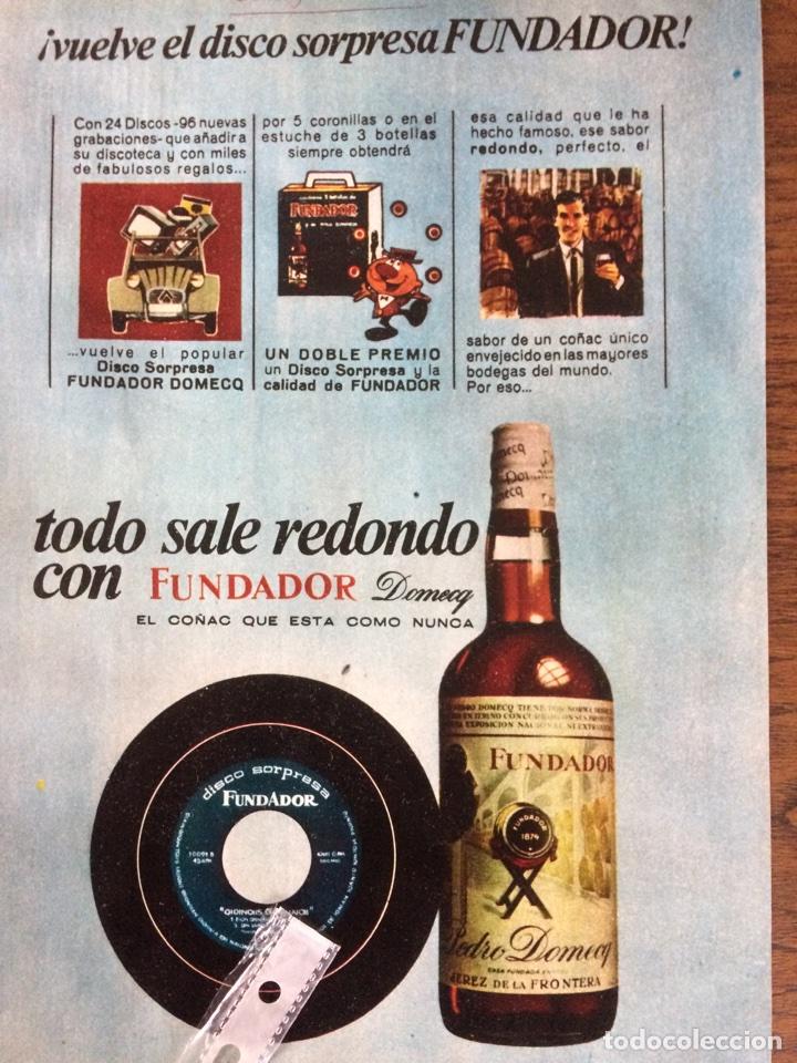 Publicidad bebida brandy fundador de 1969