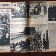 Coleccionismo Papel Varios: REPORTAJE 3 RALLYE BARCELONA SITJES DE 1961. Lote 103124952