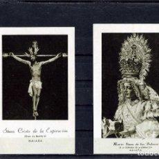 Coleccionismo Papel Varios: SEMANA SANTA MALAGA =DOS ESTAMPAS TITULARES COFRADIA DE LA EXPIRACIÓN=LEER DESCRIPCIÓN DE ESTE LOTE.. Lote 103194347
