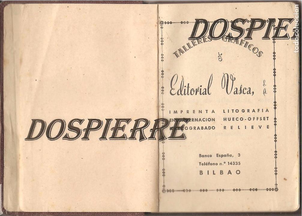 Coleccionismo Papel Varios: TABLA DE MAREAS, 1953, TALLERES GRÁFICOS EDITORIAL VASCA, BILBAO - Foto 2 - 103235615