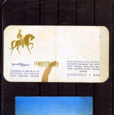 Coleccionismo Papel Varios: DOS TARJETAS CON PUBLICIDAD=APARTOGAR LA MESTRANZA Y DE LA PEÑA MELILLA(CASETA LA KABILA)=.. Lote 103275495