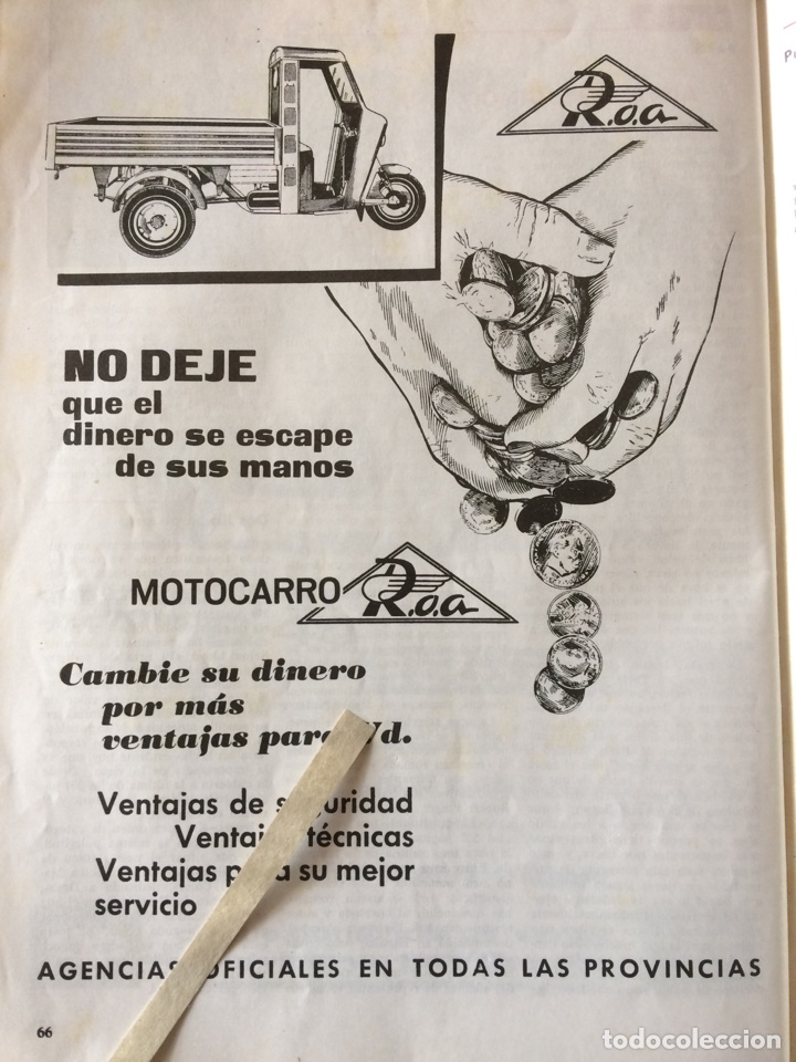 PUBLICIDAD MOTO MOTOCARRO ROA DE 1962 (Coleccionismo en Papel - Varios)