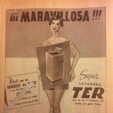 Coleccionismo Papel Varios: PUBLICIDAD LAVADORA TER DE 1957. Lote 103519847