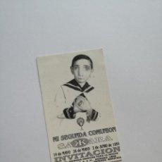 Altri oggetti di carta: FLYER ENTRADA INVITACION - DISCOTECA SAKARA SAKKARA. Lote 103534695