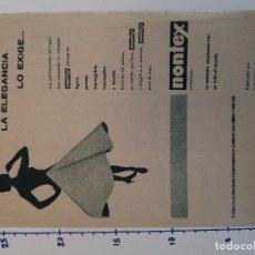 Coleccionismo Papel Varios: PUBLICIDAD DE REVISTA 1960 - ENTRETELA NONTEX. Lote 103963563