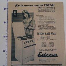 Coleccionismo Papel Varios: PUBLICIDAD DE REVISTA 1960 - COCINAS EDESA. Lote 103963867