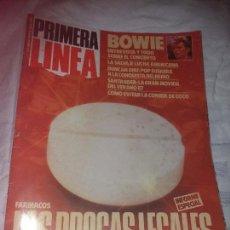 Coleccionismo Papel Varios: ANTIGUA REVISTA PRIMERA LINEA ENTREVISTA A BOWIE JULIO 1987. Lote 103984787