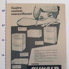 Coleccionismo Papel Varios: PUBLICIDAD DE REVISTA 1960 - COCINAS SUKALD. Lote 103963671