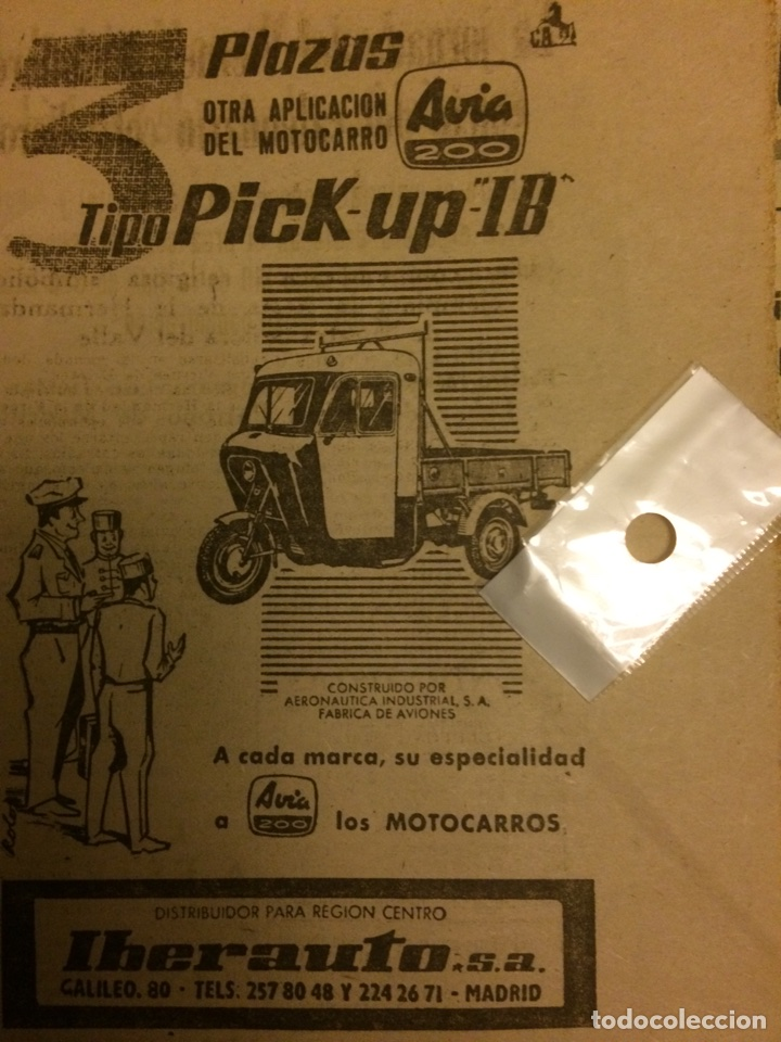 PUBLICIDAD AUTOMÓVIL MOTOCARRO AVIA DE 1962 (Coleccionismo en Papel - Varios)