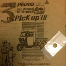 Coleccionismo Papel Varios: PUBLICIDAD AUTOMÓVIL MOTOCARRO AVIA DE 1962. Lote 104069790
