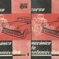 Coleccionismo Papel Varios: CURSO DE MECÁNICO DE AUTOMÓVILES. ENVÍOS 1 Y 2. (CENTRO DE ESTUDIOS CEAC, 1958). Lote 104202159