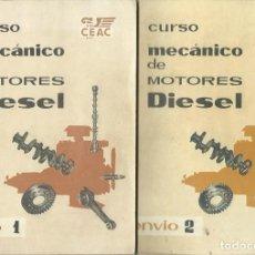 Coleccionismo Papel Varios: CURSO MECÁNICO DE MOTORES DIESEL. ENVÍOS 1 A 8. (CENTRO DE ESTUDIOS CEAC, 1960). Lote 104202455