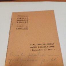 Coleccionismo Papel Varios: CATALOGO DE OBRAS. Lote 104277546