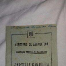 Coleccionismo Papel Varios: ANTIGUA CARTILLA LIBRO CARTILLA GANADERA AÑO 1959. Lote 105114999
