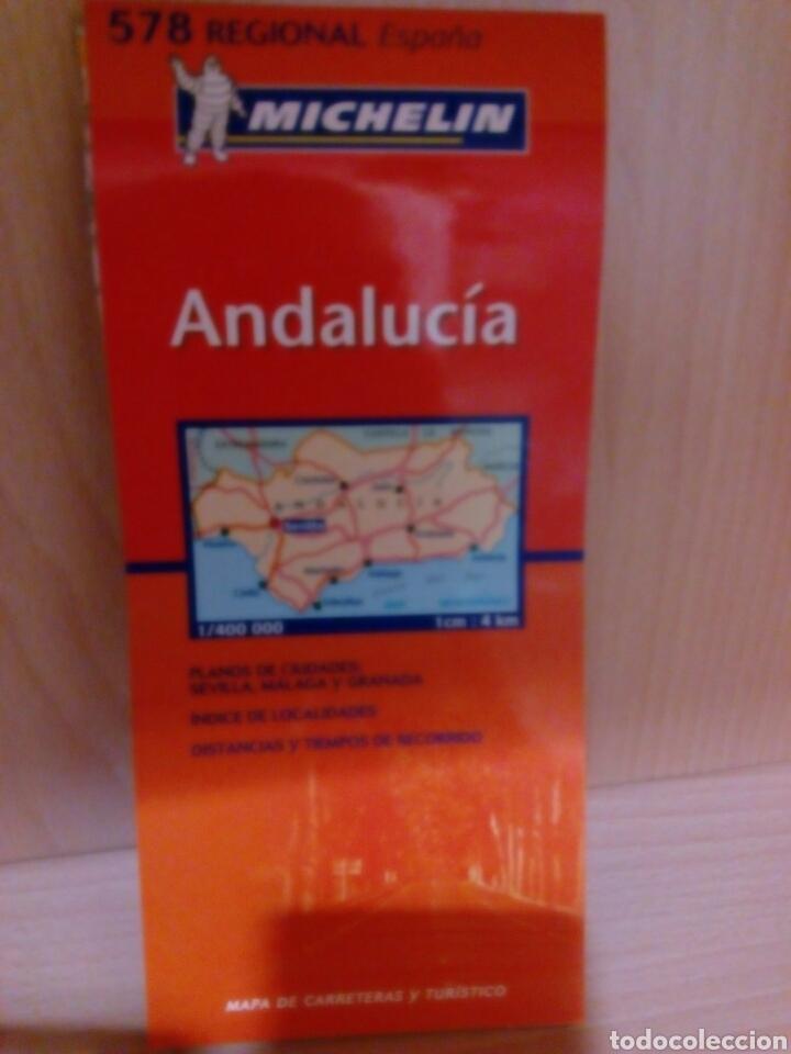 MAPA DE CARRETERAS MICHELIN, ANDALUCIA (Coleccionismo en Papel - Varios)