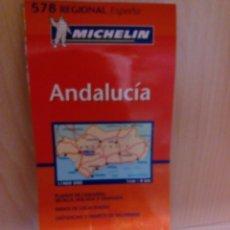 Coleccionismo Papel Varios: MAPA DE CARRETERAS MICHELIN, ANDALUCIA. Lote 105202584