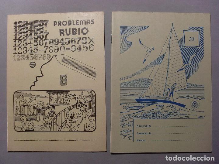CUADERNO PROBLEMAS RUBIO AÑO 1978 Y CUADERNO EDELVIVES AÑOS 70 / SIN USAR (Coleccionismo en Papel - Varios)