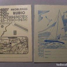 Coleccionismo Papel Varios: CUADERNO PROBLEMAS RUBIO AÑO 1978 Y CUADERNO EDELVIVES AÑOS 70 / SIN USAR. Lote 105317599