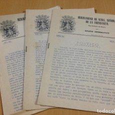 Coleccionismo Papel Varios: HERMANDAD DE NUESTRA SEÑORA DE LA FUENSANTA MURCIA SAN ADRIAN DE BESÒS BARCELONA 1963. Lote 106190159