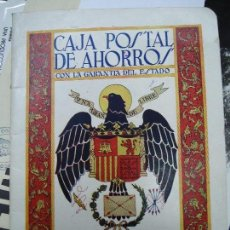 Coleccionismo Papel Varios: 1940 ANTIGUA LIBRETA CORRIENTE FRANQUISTA DE LA CAJA POSTAL DE AHORROS. Lote 107033603