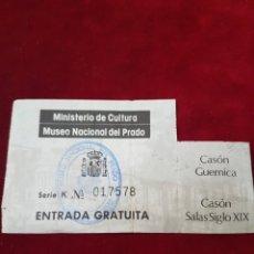 Coleccionismo Papel Varios: ENTRADA MUSEO DEL PRADO CASON GUERNICA. Lote 108879256