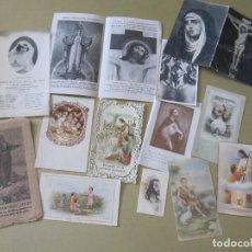 Coleccionismo Papel Varios: LOTE ANTIGUAS ESTAMPAS RELIGIOSAS RECORDATORIOS COMUNION ESQUELAS VARIOS ESTAMPA RECORDATORIO . Lote 108998219