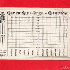 Coleccionismo Papel Varios: CAMPEONATO DE FOOTBALL DE CATALUNYA 1923. MARCADOR DE RESULTADOS. Lote 109169815