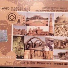 Coleccionismo Papel Varios: ENTRADAS MONUMENTOS EN LA INDIA. Lote 109204082