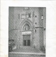 Coleccionismo Papel Varios: BARCELONA - 1918 - FICHA - IGLESIA DE SANTA MARIA DEL MAR - PUERT - Y CON PUBLICIDAD AL DORSO.. Lote 109283927