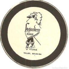 Coleccionismo Papel Varios: POSAVASOS-COASTERS, LAGARDERE, ASADOR, VITORIA, CARTÓN. Lote 109406767