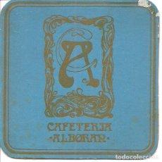 Coleccionismo Papel Varios: POSAVASOS-COASTERS, ALBORÁN, CAFETERÍA, CARTÓN. Lote 109407011