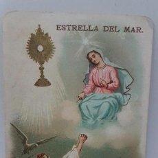Coleccionismo Papel Varios: ANTIGUA ESTAMPA RELIGIOSA. ESTRELLA DEL MAR. IMPRESO EN MILÁN 1897. Lote 109407119