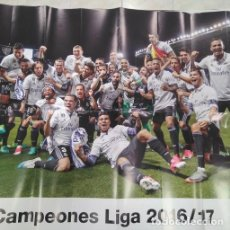 Coleccionismo Papel Varios: POSTER REAL MADRID 2016-2017. Lote 109409095