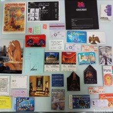 Coleccionismo Papel Varios: ENTRADAS Y POSTALES PARIS. Lote 109413855