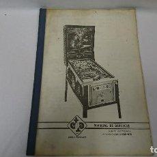 Coleccionismo Papel Varios: MANUAL TÉCNICO, PIN BALL FEATON, RECREATIVOS . Lote 110111631
