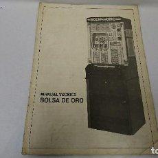 Coleccionismo Papel Varios: MANUAL TÉCNICO, BOLSA DE ORO, RECREATIVOS . Lote 110111723