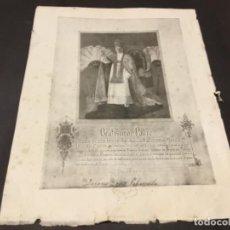 Coleccionismo Papel Varios: BULA PAPAL INDULGENCIA PLENARIA PIO XI. Lote 110489011