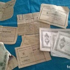 Coleccionismo Papel Varios: ANTIGUAS QUINIELAS Y DÉCIMOS DE LOTERÍA AÑOS 70 CON SELLOS. Lote 110594851