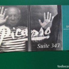 """Coleccionismo Papel Varios: PICASSO - DÍPTICO PROMOCIONAL EXPOSICIÓN BANCAJA """"PICASSO SUITE 347"""" EN CONDE DUQUE, MADRID, 2002. Lote 111301675"""